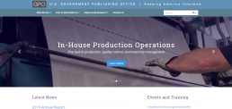 US Government Publishing Office screenshot